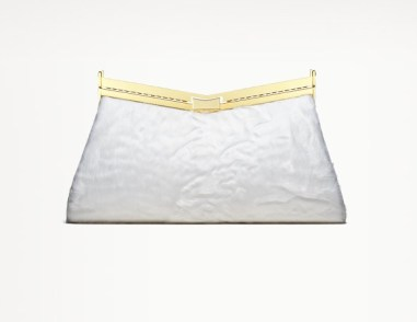MINUIT Ivory Broadtail clutch