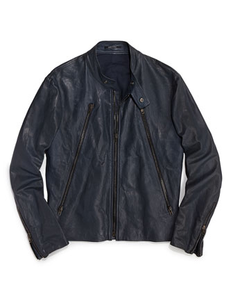 7. Maison Martin Margiela Leather Motorcycle Jacket