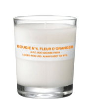 4. A.P.C Scented Candle in Fleur D'Oranger