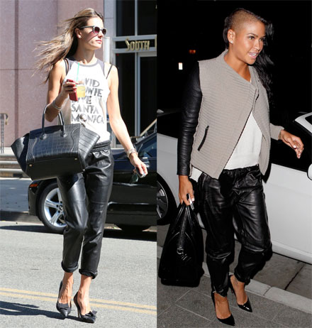 058703cc4087a Get The Look  Leather Jogging Pants by The Budget Babe