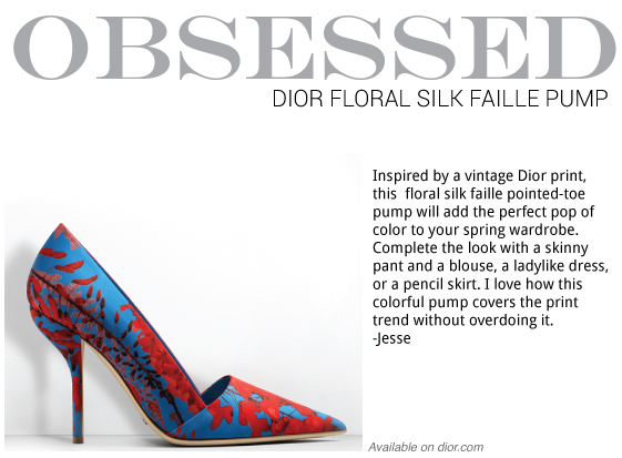 Dior Silk Faiile Printed Floral Pump | Visual Therapy Blog