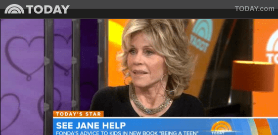 Jane Fonda on Today Show