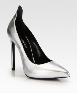 Saint Laurent Paris Thorn Metallic Pump