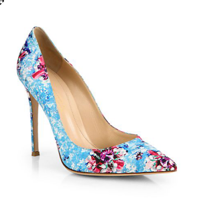 Mary Katrantzou Floral Pump
