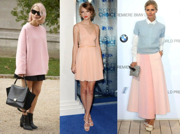 Pastel style: Taylor Swift, Laura Bailey, Street Style