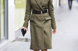 Christine Centenera street style at F/W 2014 Paris Fashion Week