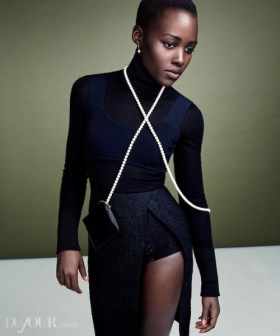lupita-Lupita Nyong'o in DuJourMagazine