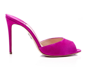 Paul Andrew M'O Exclusive: Artistata Suede Mule Stiletto Heels