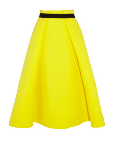 Roksana Ilinic Stretch Neoprene And Wool Crepe Midi Skirt