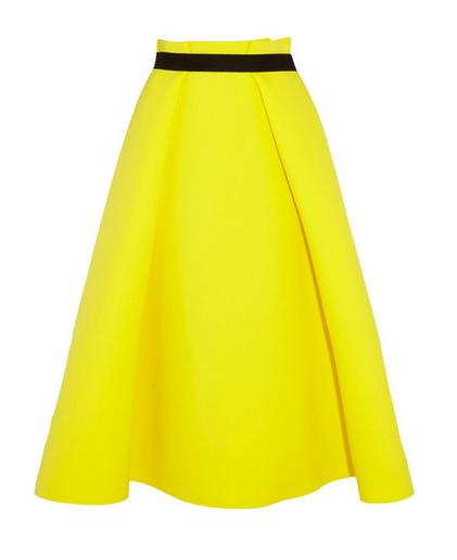 Roksana Ilinic Stretch Neoprene And Wool Crepe Midi Skirt