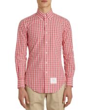 3. Thom BrowneCheck Poplin Shirt,
