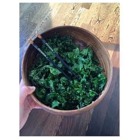 Valentina Zelyaeva's Kale Salad   Photo @val_zelyaeva