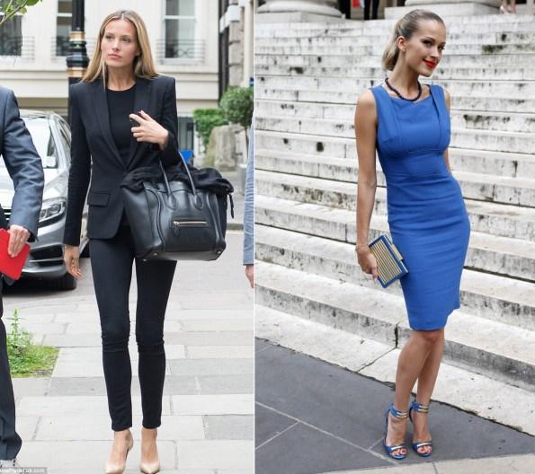 Petra Nemcova Style, Petra Nemcova blue dress, Petra Nemcova black suit