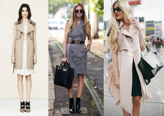On Trend Sleeveless Trench Visual Therapy