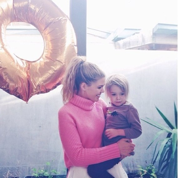 Belle Gibson and Son Oli