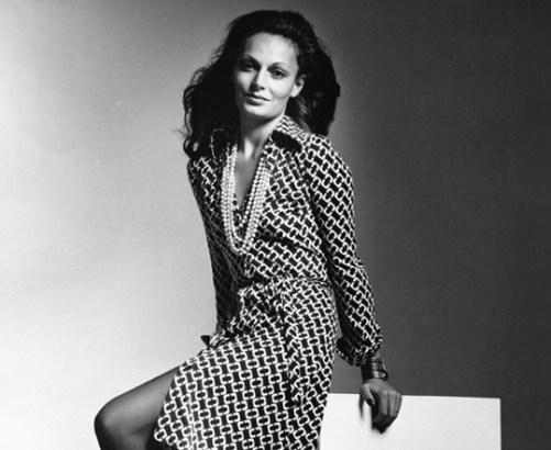 Diane Von Furstenberg in her revolutionary wrap dress, 1970s