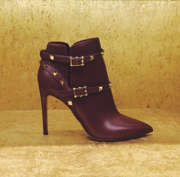 Valentino Rockstud Harness Ankle Boot