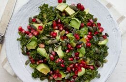 Marinated Kale salad via www.deliciouslyella.com