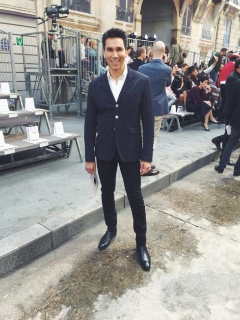 Jesse Garza at Chanel Spring 2015 RTW