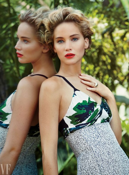 Jennifer Lawrence in Dior, Vanity Fair | Photo by Patrick Demarchelier