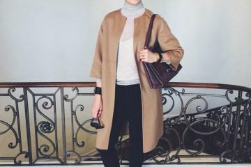 Lisa Marie McComb in YSL Cashmere Coat