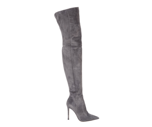 Gianvito Rossi grey suede boots cruissard
