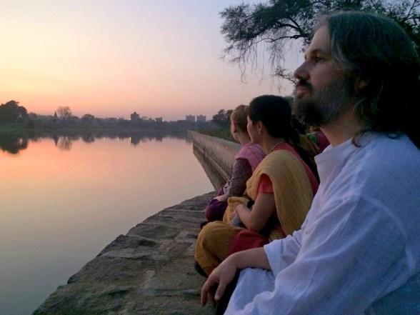 David leading a retreat in India