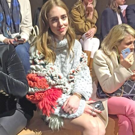 Chiara Ferragni of the Blonde Salad at Hermes fall 2015 pfw show