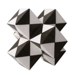 Add some shape and texture with this trapezoid sculpture from Kelly Wearstler