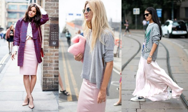 Pastel Skirt Street Style