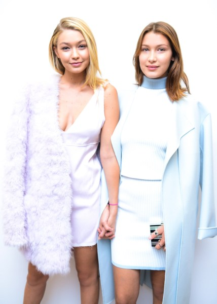 Gigi and Bella Hadid Pastels Calvin Klein Vogue