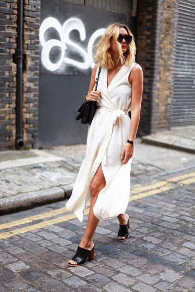 Wrap Dress chic street style