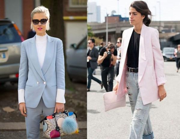 pastel blazer street style
