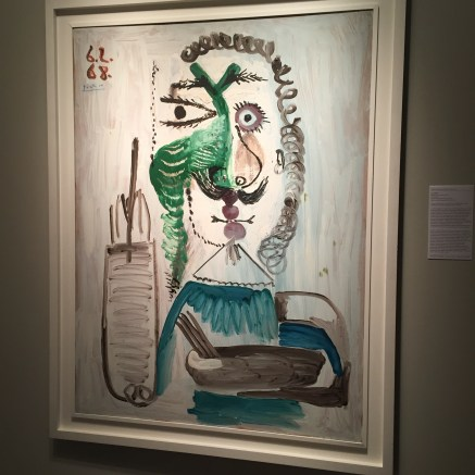 """Le peintre"" by Pablo Picasso, 1973. It belongs to a major series of paintings on the theme of the painter in association with the persona of a musketeer."