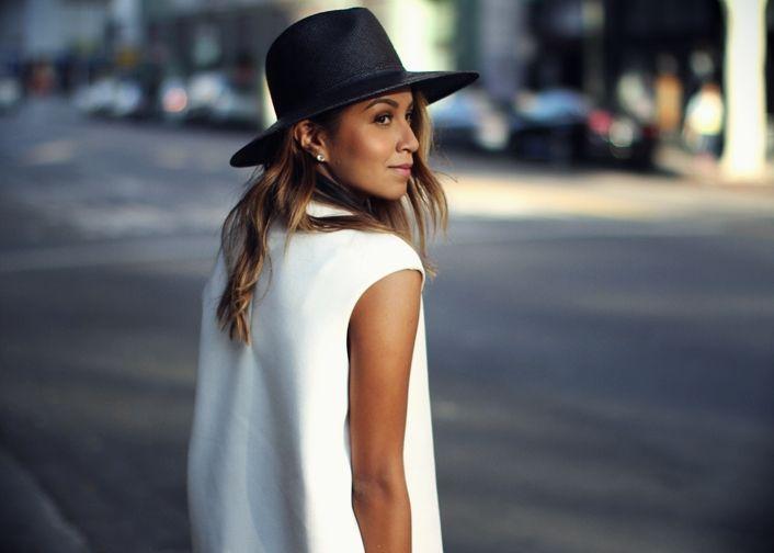 julie sarananastreet style black and white
