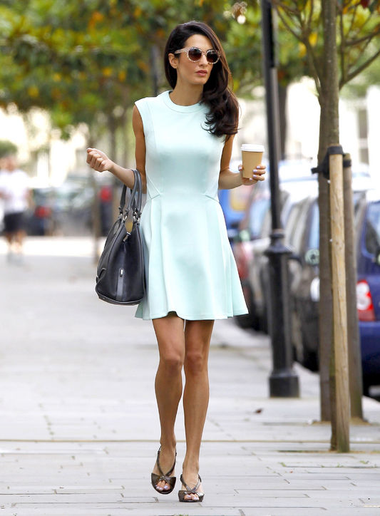 amal-alamuddin-mint-green-dress-outfit-london-h724