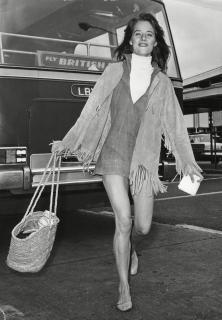 charlotte rampling fringe 1970s 1960s boho bohemian young fashion