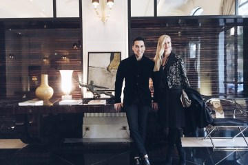 Jesse Garza and Lisa Marie McComb at Prince de Galles, Paris
