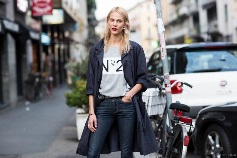 Milan Fashionweek SS2015 day1, Aymeline Valade, outside no 21