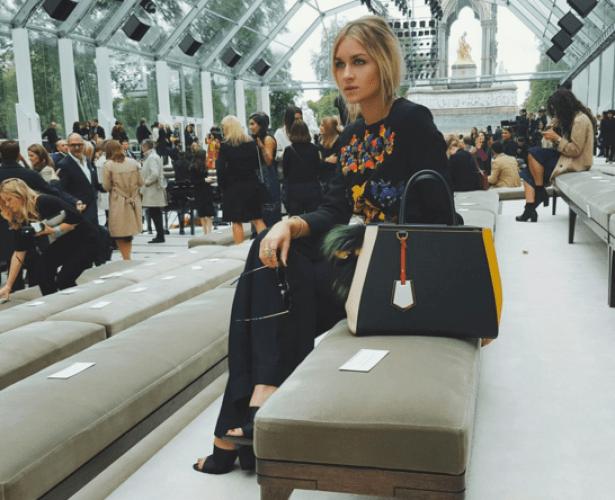 Nina Suess at paris fashion week