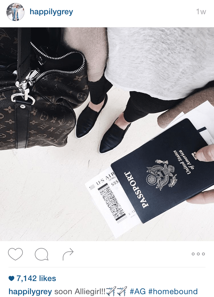 blogger instagram airport style
