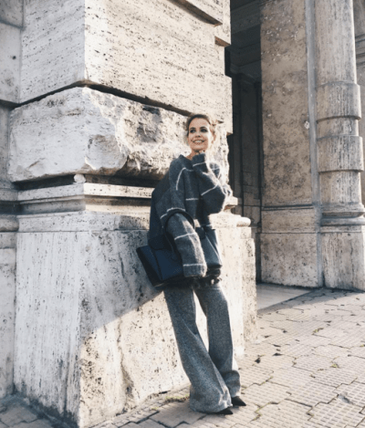 Grey look by collage vintage