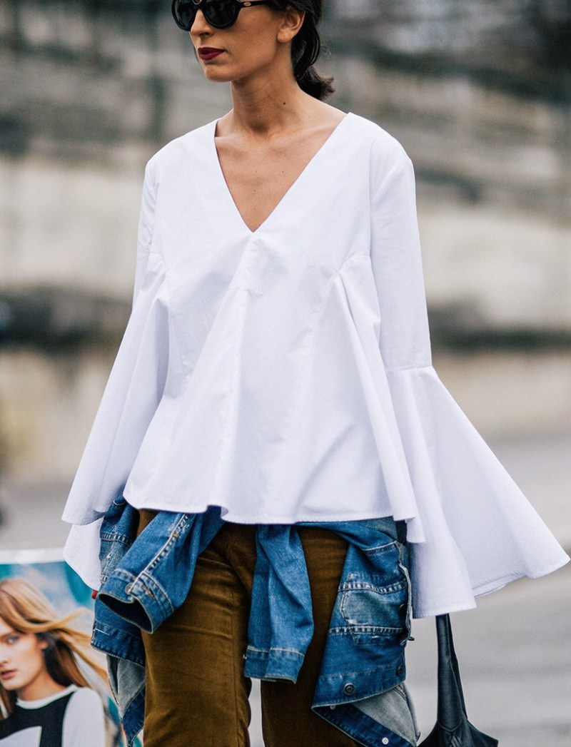 bell sleeve street style