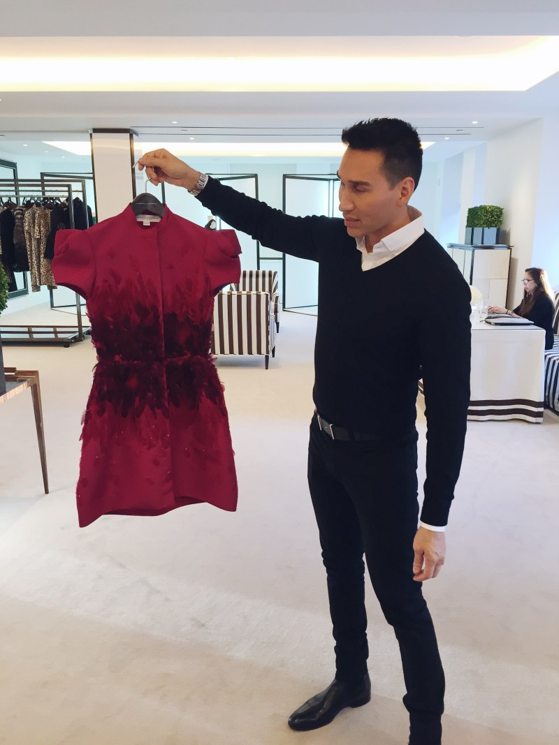 Carolina Herrera Pre-Fall 2016 Red Mini Dress