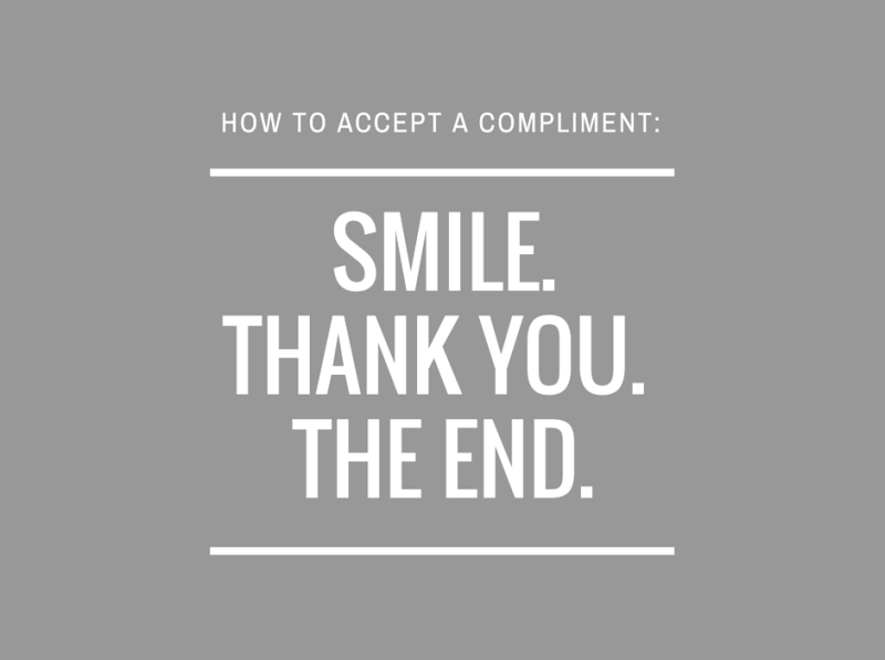how to accept compliments