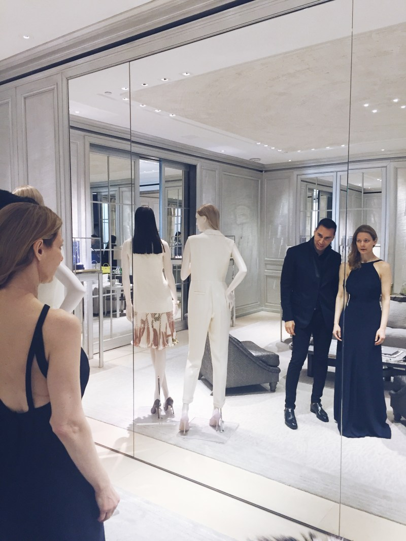 NYC shopping with personal stylist Dr. Melinda Knight Jesse Garza Dior Boutique