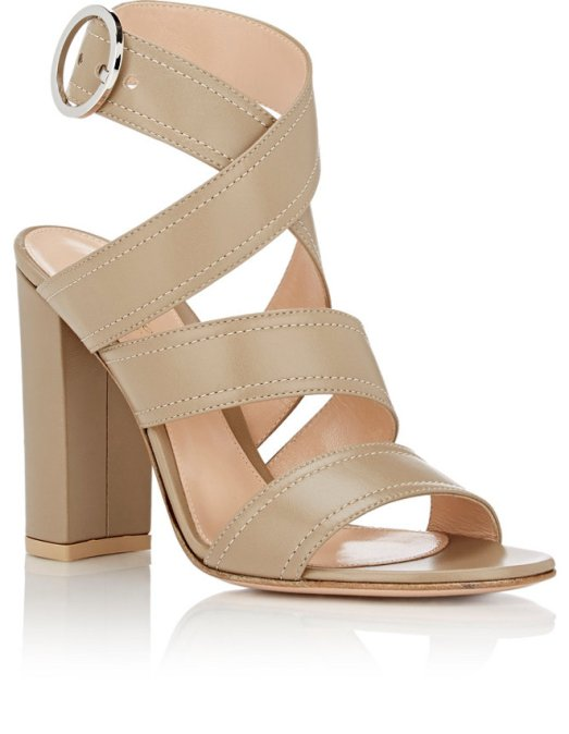 Gianvito Rossi Rylee Ankle-Wrap Sandals