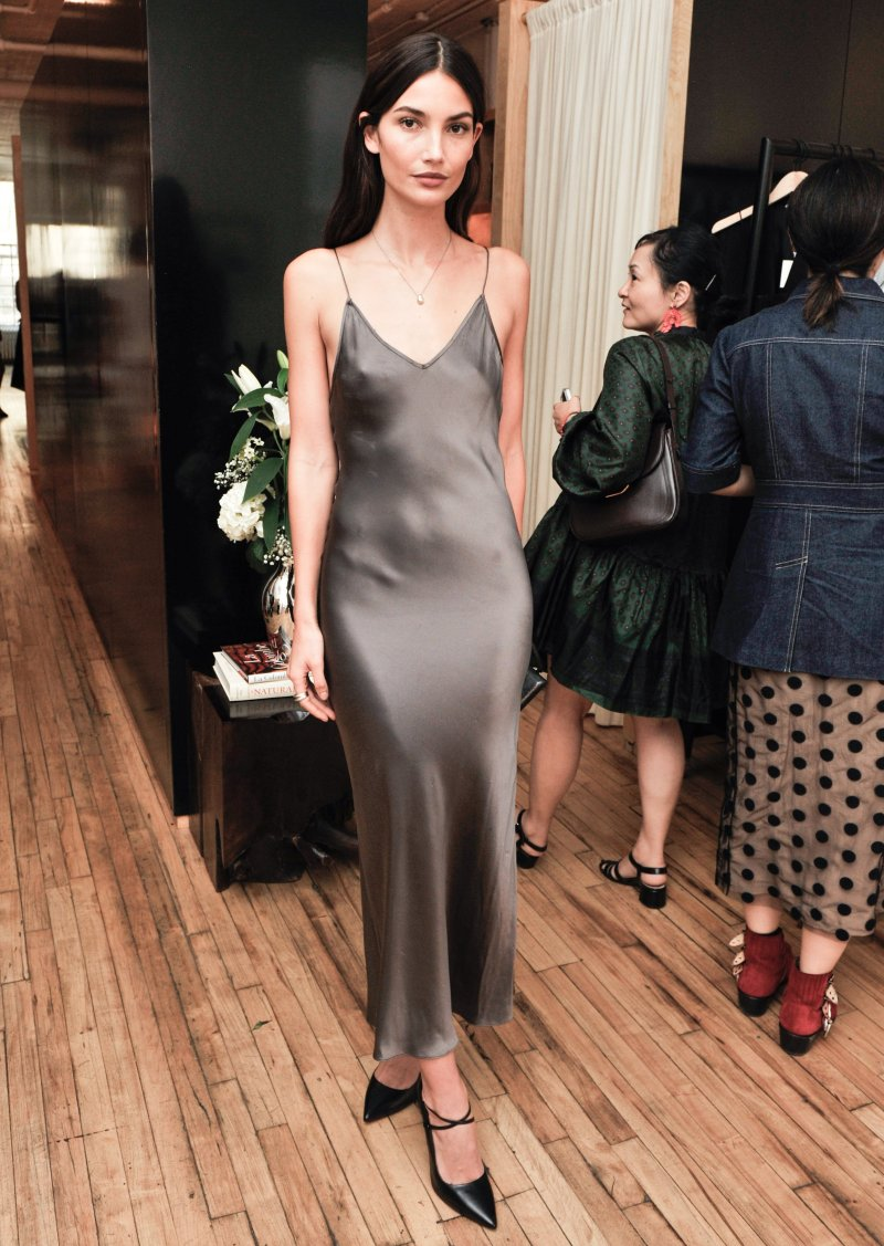 Lily Aldridge Slip Dress