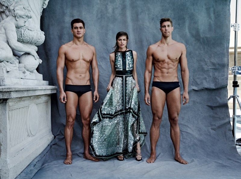 02-Vogue-US-August-2016-by-Patrick-Demarchelier-Olympics-Nathan-Adrian-Matt-Grevers-Cameron-Russell