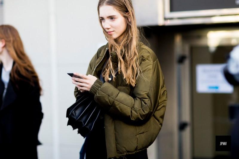 Bomber jacket street style